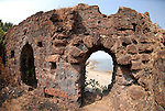 Part of the old fort at Chapora in Goa in India.