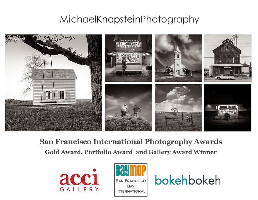 Michael Knapstein won a Portfolio Award, Gold Award and Gallery Award in the San Francisco Bay International Photography Competition.