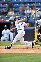 Asheville Tourists designated hitter Daniel Jipping (16) swings at a pitch during a game against the Augusta GreenJackets at McCormick Field on April 7, 2019 in Asheville, North Carolina. The GreenJackets  defeated the Tourists 11-2. (Tony Farlow/Four Seam Images)