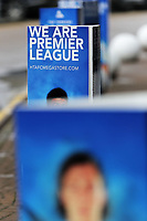 Huddersfield advertising boards outside of the stadium during the Premier League match between Huddersfield Town and Swansea City and at the John Smith's Stadium Huddersfield, England, UK. Saturday 10 March 2018