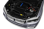 Car stock 2018 BMW X5 Plug-in Hybrid iPerformance 5 Door SUV engine high angle detail view