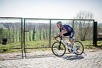 Silvan Dillier (SUI/Alpecin-Fenix)<br /> <br /> 76th Dwars door Vlaanderen 2021 (MEN1.UWT)<br /> 1 day race from Roeselare to Waregem (184km)<br /> <br /> ©kramon