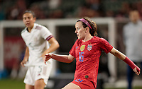 CARSON, CA - FEBRUARY 7: Rose Lavelle #16  of the United States passes off the ball during a game between Mexico and USWNT at Dignity Health Sports Park on February 7, 2020 in Carson, California.