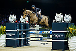 Jane Richard Philips of Switzerland riding Izmir van de Baeyenne competes in the Longines Speed Challenge during the Longines Masters of Hong Kong at AsiaWorld-Expo on 10 February 2018, in Hong Kong, Hong Kong. Photo by Ian Walton / Power Sport Images