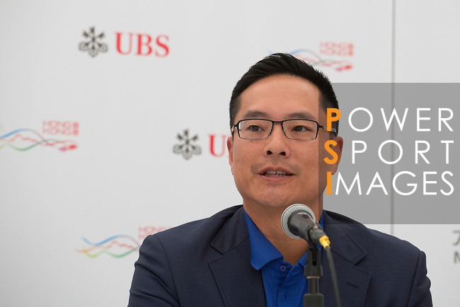 Kenneth Lam, Captain of the Hong Kong Golf Club, speaks during the Charity Cup press conference on the sidelines of the 58th UBS Hong Kong Golf Open as part of the European Tour on 10 December 2016, at the Hong Kong Golf Club, Fanling, Hong Kong, China. Photo by Vivek Prakash / Power Sport Images