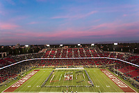 STANFORD, CA - November 18, 2017: Stanford Band, Cal Band at Stanford Stadium. The Stanford Cardinal defeated Cal 17-14 to win its eighth straight Big Game.
