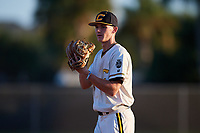 Nick Dean during the WWBA World Championship at the Roger Dean Complex on October 20, 2018 in Jupiter, Florida.  Nick Dean is a right handed pitcher from Bensalem, Pennsylvania who attends Bensalem Township High School who attends Maryland.  (Mike Janes/Four Seam Images)