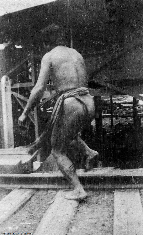 St Louis MO:  View of an Igorot man dancing in the Philippine Village at the Louisiana Purchase Exposition.