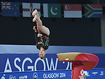 Wales' Jessica Hogg competes in the vault<br /> <br /> Gymnastics artistic - Team final & Individual Qualification <br /> <br /> Photographer Chris Vaughan/Sportingwales<br /> <br /> 20th Commonwealth Games - Day 5 - Monday 28th July 2014 - Gymnastics artistic - The SSE Hydro - Glasgow - UK