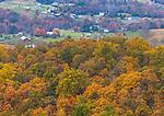 Shenandoah National Park, VA: Autumn view of the Shenadoah Valley from Skyline Drive