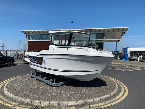 The latest Jeanneau Merry Fisher Marlin 605 on display at Dun Laoghaire Marina