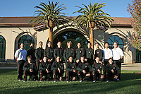 7 October 2005: Men's gymnastics team photo: Top row (l to r): J.D. Reive, Edgar Tabilia, Jason Shen, Bryce Rolston, Dylan Carney, Nate Downs, Josh Goldman, Eli Alcaraz, Sean Doolan, Mutsumi Harada, Thom Glielmi. Bottom row: Chris Harper, Greg Ter-Zakhariants, Bryce Hadden, Sho Nakamori, Peter Derman, Alex Schorsch, David Sender.