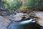 Eastman Brook in Woodstock, New Hampshire during the autumn months.