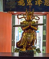 Wul Ngon Tin Chinese Buddhist Temple, Bronze Statue, Kuala Lumpur, Malaysia.