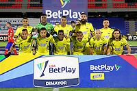PASTO - COLOMBIA, 15-04-2021: Jugadores de Atletico Bucaramanga posan para una foto, antes de durante partido pospuesto de la fecha 16 entre Deportivo Pasto y Atletico Bucaramanga por la Liga BetPlay DIMAYOR I 2021 jugado en el estadio Departamental Libertad de la ciudad de Pasto. / Players of Atletico Bucaramanga pose for a photo, prior a posponed match of the 16th date between Deportivo Pasto and Atletico Bucaramanga for the BetPlay DIMAYOR I 2021 League played at the Departamental Libertad Stadium in Pasto city. / Photo: VizzorImage / Leonardo Castro / Cont.