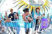 BUENOS AIRES, ARGENTINA, 10 DEZEMBRO 2011 - POSSE CRISTINA KIRCHNER PRESIDENCIA ARGENTINA - Cristina Fernandez de Kirchner é vista deixando o Congresso Nacional onde fez o juramento e assumiu o seu segundo mandato como presidente eleita da Argentina, na tarde deste sábado, 10, em Buenos Aires, capital da Argentina. (FOTO: FOTO: JUANI RONCORONI - NEWS FREE).