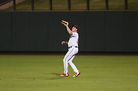 Salt River Rafters right fielder Luke Raley (53), of the Minnesota Twins organization, prepares to catch a fly ball during an Arizona Fall League game against the Scottsdale Scorpions at Salt River Fields at Talking Stick on October 11, 2018 in Scottsdale, Arizona. Salt River defeated Scottsdale 7-6. (Zachary Lucy/Four Seam Images)