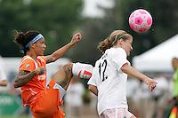 Natasha Kai, Elise Weber...Saint Louis Athletica defeated Sky Blue FC 1-0 at Anheuser-Busch Soccer Park, Saint Louis, MO.