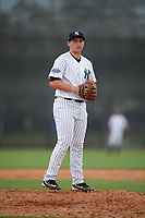 New York Yankees pitcher Dalton Lehnen (26) gets ready to deliver a pitch during an Instructional League game against the Pittsburgh Pirates on September 29, 2017 at the Yankees Minor League Complex in Tampa, Florida.  (Mike Janes/Four Seam Images)