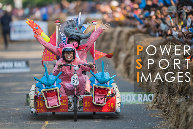 Team 呆呆王  in action during the Red Bull Soapbox Race 2017 Taipei at Multipurpose Gymnasium National Taiwan Sport University on 01 October 2017, in Taipei, Taiwan. Photo by Victor Fraile / Power Sport Images