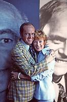 Bob Newhart and wife Ginny, CBS Studios, Los Angeles, 1974.