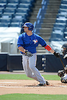 Toronto Blue Jays first baseman Ryan McBroom (44) during an Instructional League game against the New York Yankees on September 24, 2014 at George M. Steinbrenner Field in Tampa, Florida.  (Mike Janes/Four Seam Images)