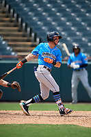 Akron RubberDucks Alexis Pantoja (1) at bat during an Eastern League game against the Bowie Baysox on May 30, 2019 at Prince George's Stadium in Bowie, Maryland.  Akron defeated Bowie 9-5.  (Mike Janes/Four Seam Images)