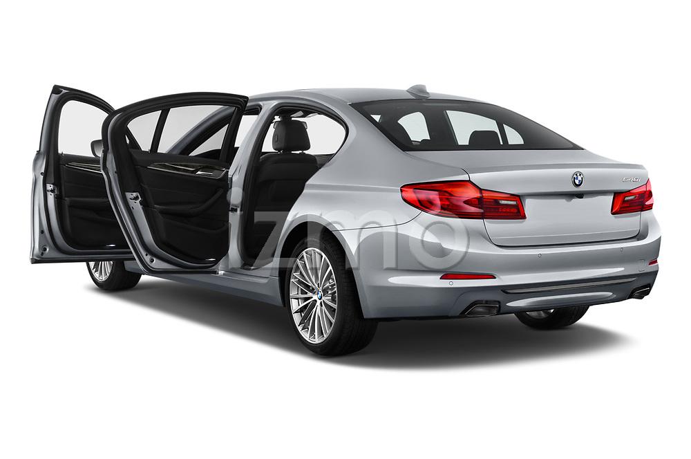 Car images close up view of a 2019 BMW 5 Series 540i Sport Line 4 Door Sedan doors