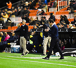 Valencia CF's coach Gary Neville  and UD Las Palmas'  coach Quique Setien during spanish King's Cup match. January 21, 2016. (ALTERPHOTOS/Javier Comos)