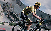 Chris Froome (GBR/SKY) up the Col d'Izoard (HC/2360m/14.1km/7.3%)<br /> <br /> 104th Tour de France 2017<br /> Stage 18 - Briancon › Izoard (178km)