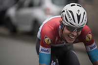 Bob Jungels (LUX/Etixx-QuickStep) trying to get away solo<br /> <br /> 12th Eneco Tour 2016 (UCI World Tour)<br /> Stage 7: Bornem › Geraardsbergen (198km)