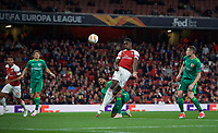 Danny Welbeck of Arsenal scores his goal 2-0  during the UEFA Europa League match group between Arsenal and Vorskla Poltava at the Emirates Stadium, London, England on 20 September 2018. Photo by Andrew Aleks / PRiME Media Images.