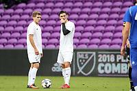 Orlando, Florida - Saturday January 13, 2018: Paul Marie and Brian Iloski. Match Day 1 of the 2018 adidas MLS Player Combine was held Orlando City Stadium.