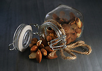 Almonds in Jar<br /> Photo By Adam Scull/PHOTOlink.net