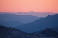 Mountain Ridges at Sunset, Mt. St. Helens National Volcanic Monument, Washington, US
