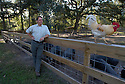 Louisiana Chef John Besh behind his restaurant Le Provence, where he raises pigs, chickens and grows his own herbs in Lacombe, La., Monday, Oct. 15, 2007.