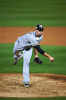 Glendale Desert Dogs pitcher Brandon Brennan (34) delivers a pitch during an Arizona Fall League game against the Salt River Rafters on October 22, 2015 at Salt River Fields at Talking Stick in Scottsdale, Arizona.  Glendale defeated Salt River 7-5.  (Mike Janes/Four Seam Images)