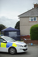 Pictured: The house in Graig Avenue, Llanelli, where Katrina Evemy was attacked<br /> Re: Dyfed Powys Police have charged 21 year old Dylan Hywel Harries with the attempted murder of 19 year old Katrina Evemy, following an incident in Graig Avenue, Llanelli, west Wales, on the evening of Thursday the 13th April 2017. He has been remanded in custody to appear at Llanelli Magistrates Court on Monday the 17th of April 2017.