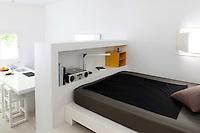contemporary open plan bedroom