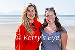 Enjoying a stroll on Inch beach on Saturday, l to r: Tara Tagney and Leonie Kane.