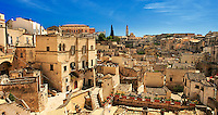 """The ancient cave dwellings, known as """" Sassi """" , in Matera, Southern Italy. A UNESCO World Heritage Site."""