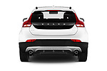 Straight rear view of 2017 Volvo V40-Cross-Country - 5 Door Wagon Rear View  stock images