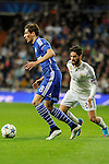 Real Madrid´s Isco and FC Shalke 04´s Leon Goretzka during 2014-15 Champions League match between Real Madrid and FC Shalke 04 at Santiago Bernabeu stadium in Madrid, Spain. March 10, 2015. (ALTERPHOTOS/Luis Fernandez)
