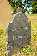 Capt. Edmund Roberts headstone at North Cemetery in Portsmouth, New Hampshire.