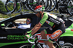 Tomasz Marczynski (POL) /Torku Sekersporduring at the team car during Stage 2 of the 2015 Presidential Tour of Turkey running 182km from Alanya to Antalya. 27th April 2015.<br /> Photo: Tour of Turkey/Stiehl Photography/Mario Stiehl/www.newsfile.ie