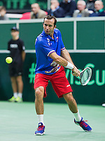 31-01-14,Czech Republic, Ostrava, Cez Arena, Daviscup Czech Republic vs Netherlands, Radek Stepanek CHE)<br /> Photo: Henk Koster
