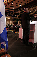 Quebec Liberal Premier Philippe Couillard speak at panel on free trade between USA and Canada, Friday Marc 17, 2017 , Saint-Patrick Day<br /> <br /> PHOTO : Agence Quebec Presse