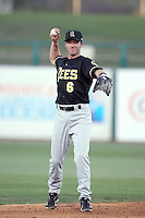 Andrew Romine #6 of the Salt Lee Bees plays in a Pacific Coast League game against the Tucson Padres  at Kino Stadium on April 17, 2011  in Tucson, Arizona. .Photo by:  Bill Mitchell/Four Seam Images.