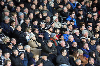 Pictured: Swansea fans Saturday 10 January 2015<br /> Re: Barclays Premier League, Swansea City FC v West Ham United at the Liberty Stadium, south Wales, UK