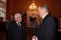 Paul Gerin-Lajoie  ,Jacques Lamarre,<br /> Gala des Grands Montrealais a l'Hotel de Ville de Montreal<br /> <br /> <br /> <br /> <br /> photo : Pierre Roussel /  Images Distribution